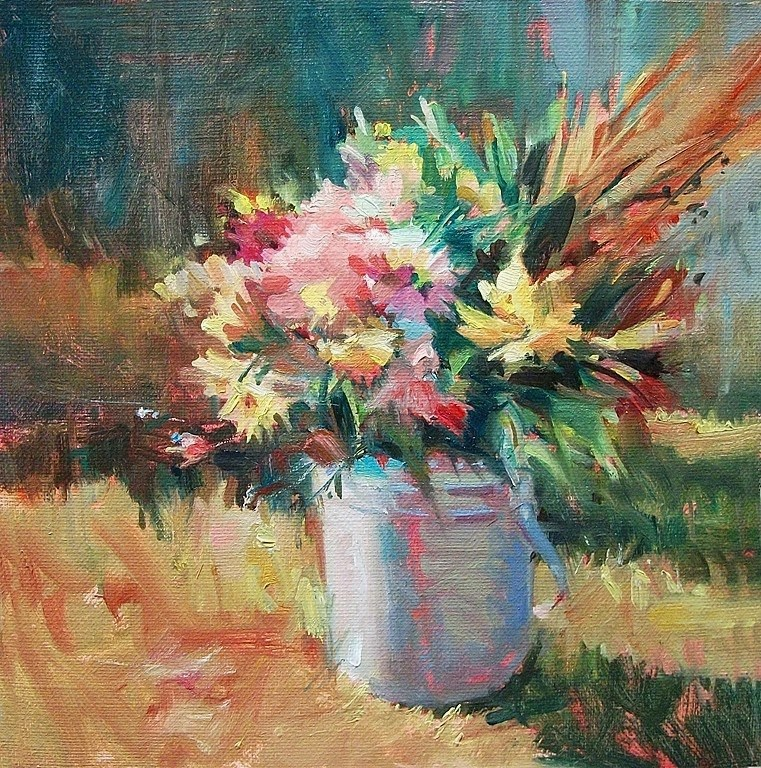 """Market Flowers"" original fine art by Mary Maxam"