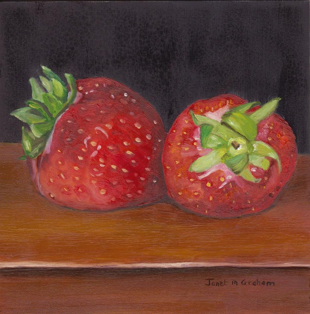 """Strawberries"" original fine art by Janet Graham"