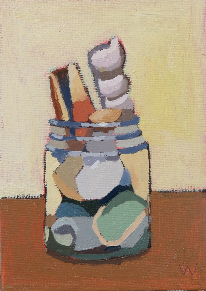 """Shell Jar"" original fine art by Joan Wiberg"
