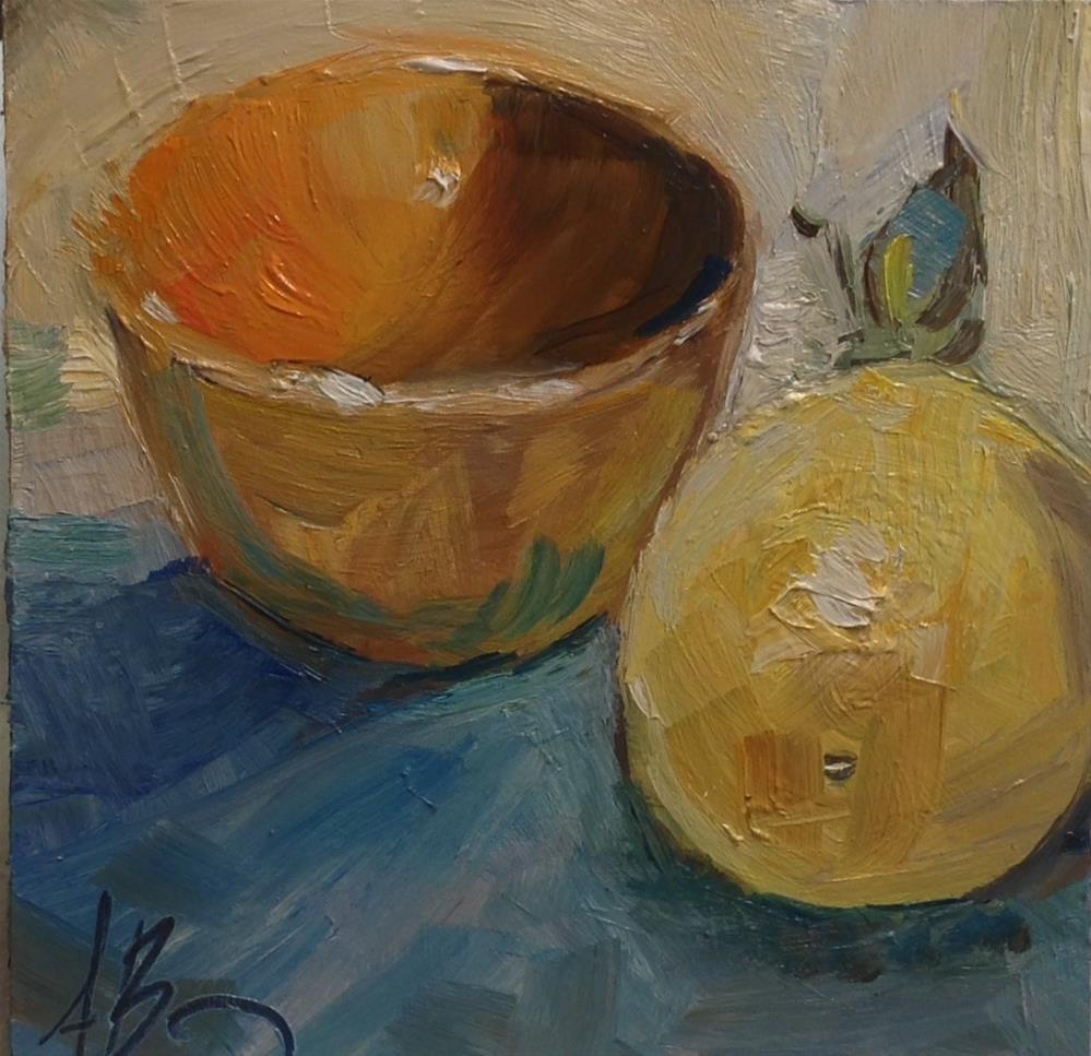 """Rusty colored bowl"" original fine art by Annette Balesteri"