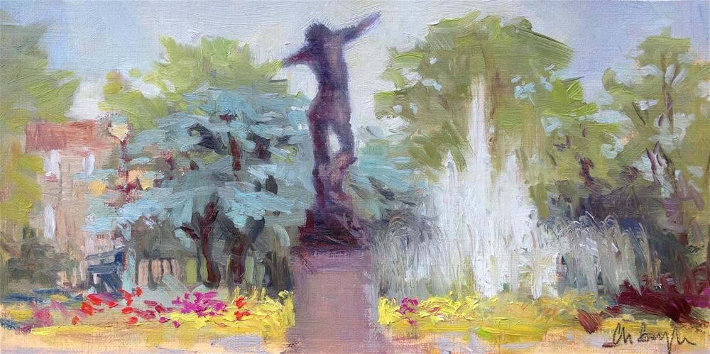 """Le jardin du grand rond"" original fine art by Christine Bayle"