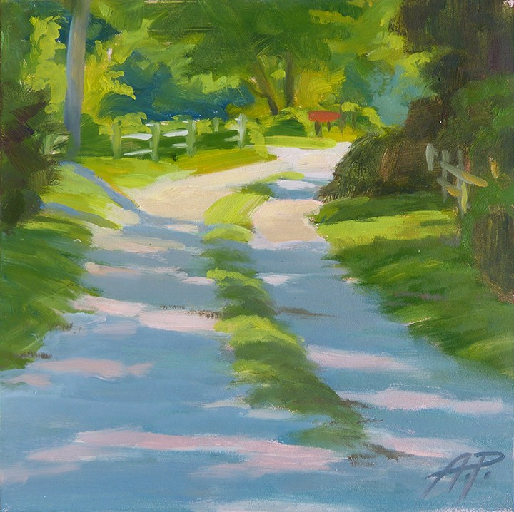 """Light down the Road"" original fine art by Anette Power"