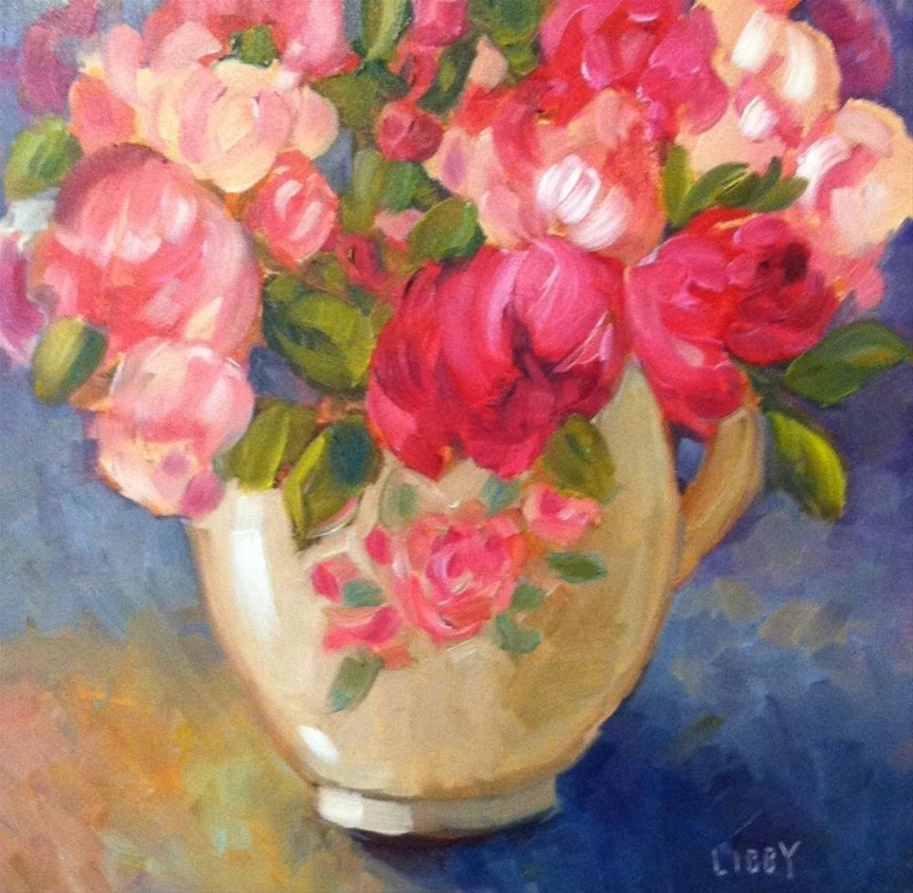 """Peony Vase"" original fine art by Libby Anderson"