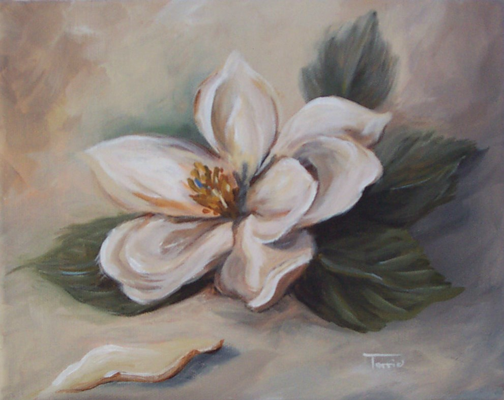 """Magnolia "" original fine art by Torrie Smiley"