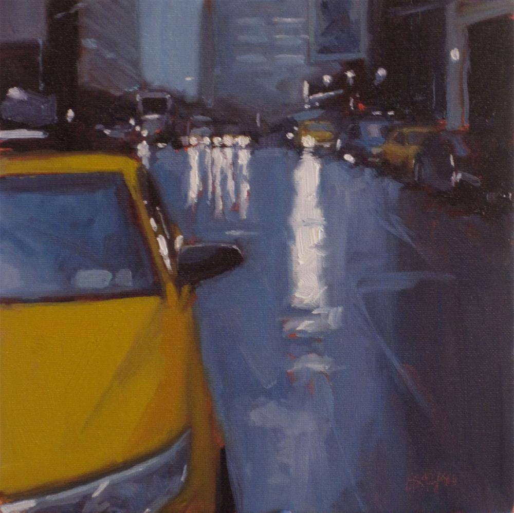 """city rain"" original fine art by Dan Graziano"