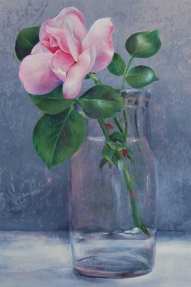 """Pink Rose"" original fine art by Maureen Baker"