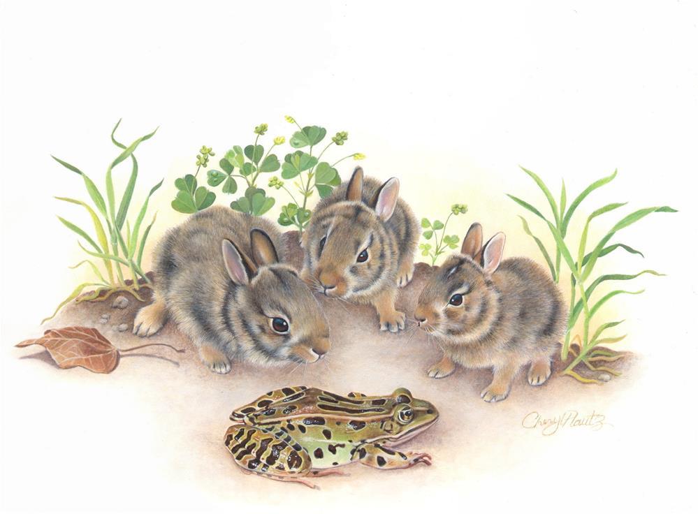 """Leap Frog"" original fine art by Cheryl Plautz"