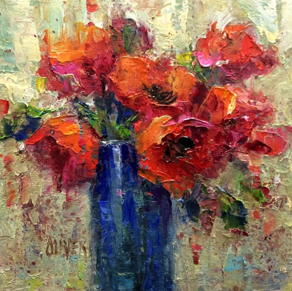 """Seeing Red!"" original fine art by Julie Ford Oliver"
