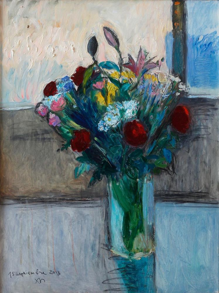 """Bouquet of Roses and Lily Flowers"" original fine art by Anna  Fine Art"