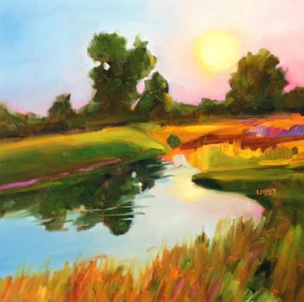 """Morning has Broken"" original fine art by Libby Anderson"