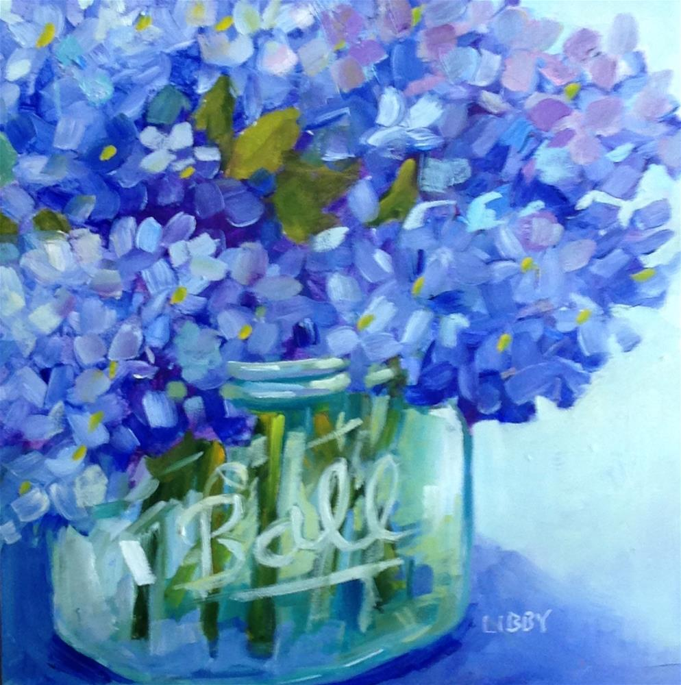"""Blue Basics"" original fine art by Libby Anderson"