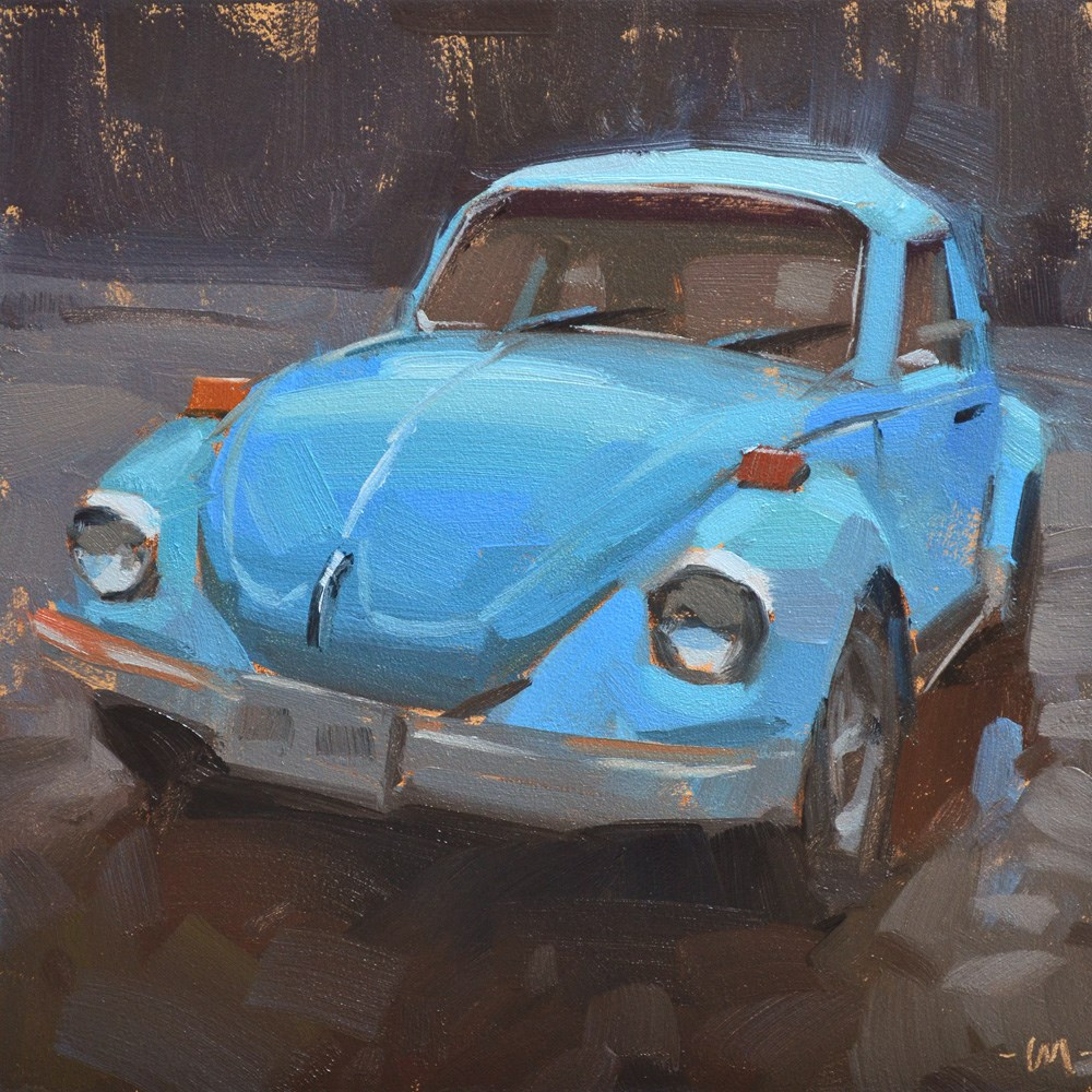 """Blue Bug"" original fine art by Carol Marine"