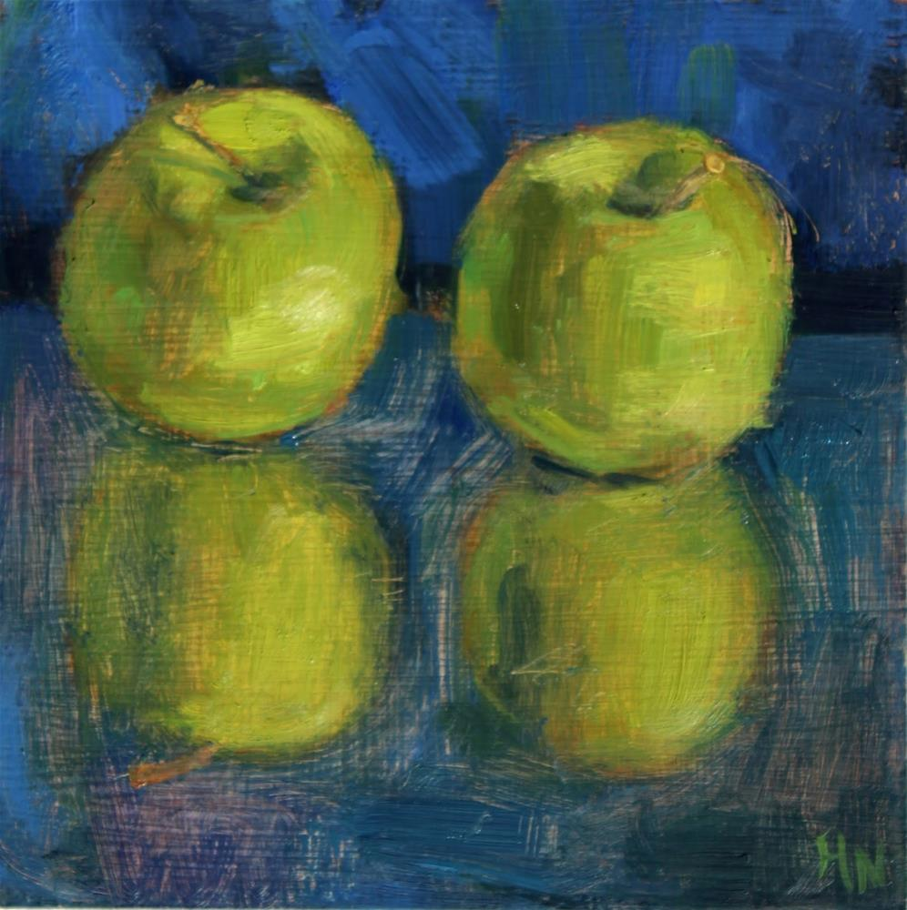 """Mirrored Apples"" original fine art by Heather Nibert"