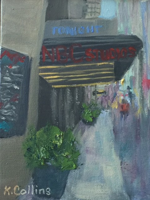 """NBC Studios"" original fine art by Kathy Collins"