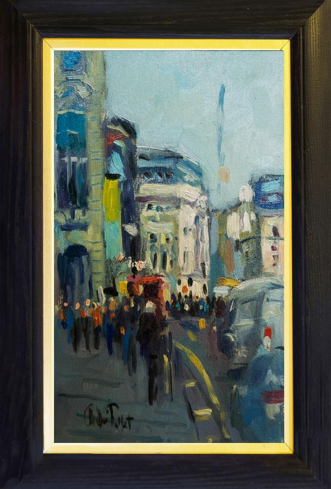 """Piccadilly with Traffic"" original fine art by Andre Pallat"