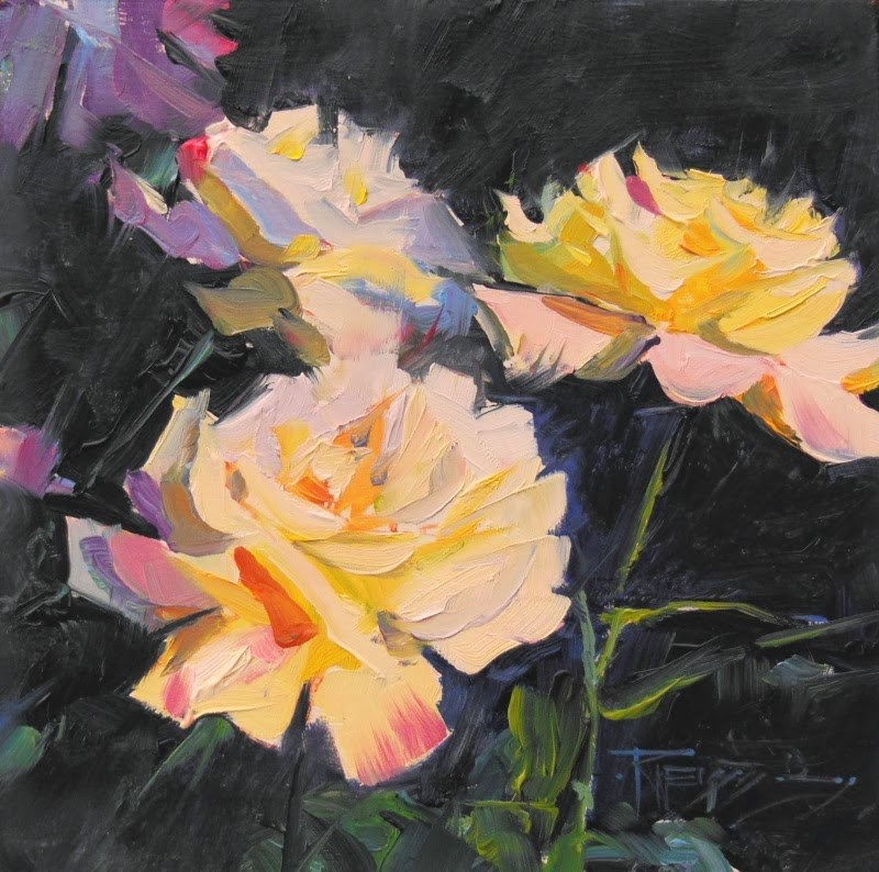 """Fragrance  rose, oil painting by Robin Weiss"" original fine art by Robin Weiss"