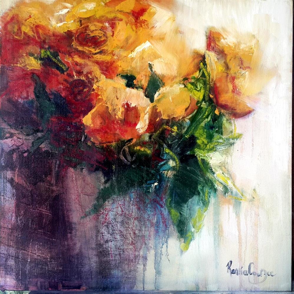 """Bloomin roses"" original fine art by Rentia Coetzee"