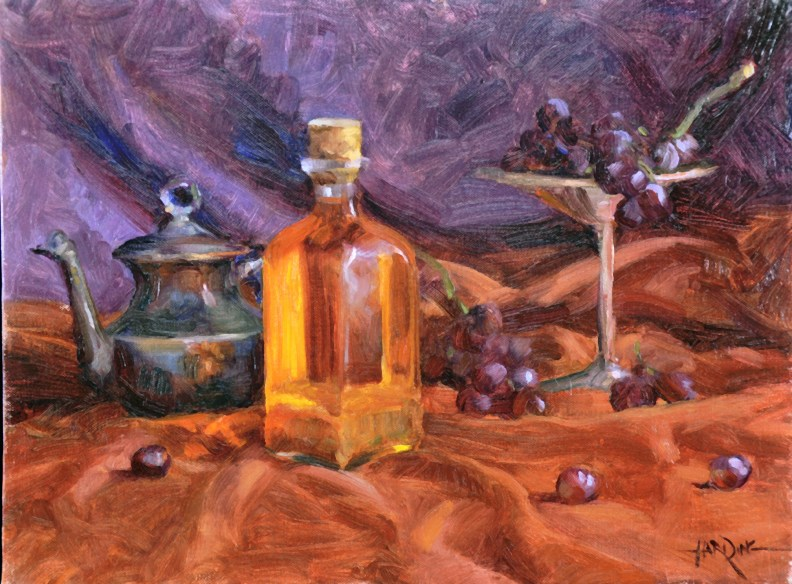 """Oil Bottle"" original fine art by Scott Harding"