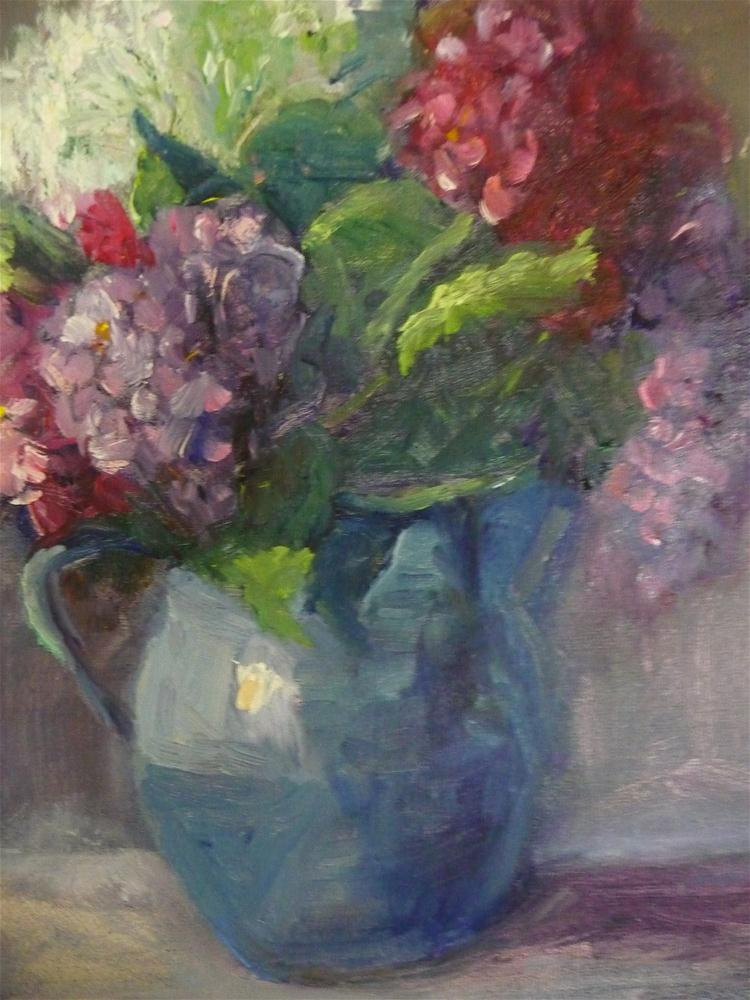 """Blue Vase"" original fine art by Carol Josefiak"