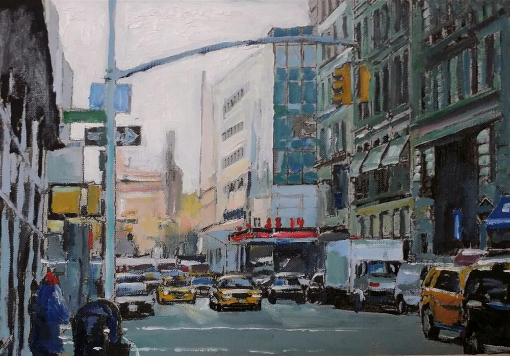 """Another 14th Street (9 x 12 Oil on canvas sheet - no frame)"" original fine art by Ramon DelRosario"