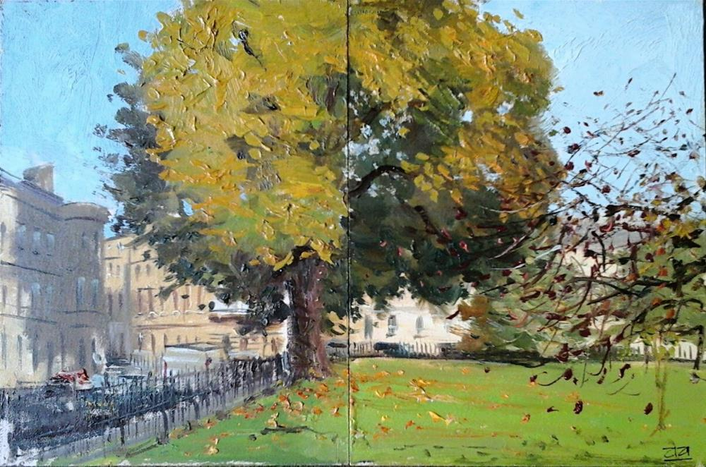 """The Tulip Tree St James Square, Bath"" original fine art by Adebanji Alade"