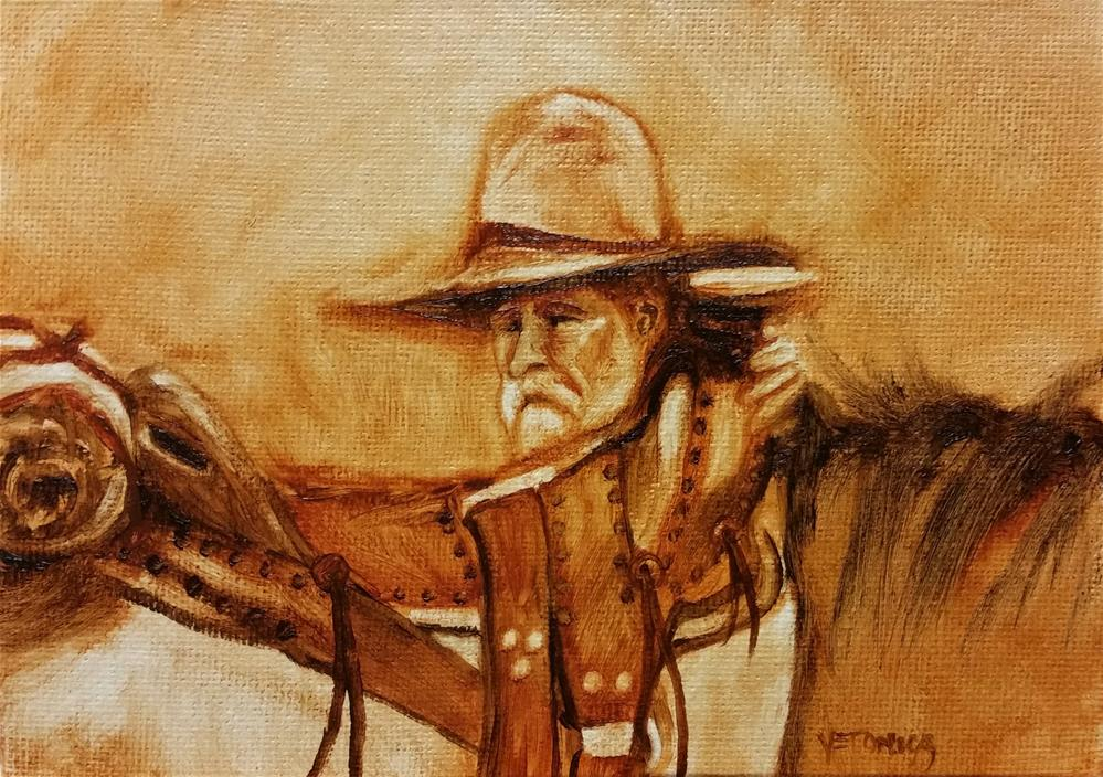 """Saddle Up"" original fine art by Veronica Brown"
