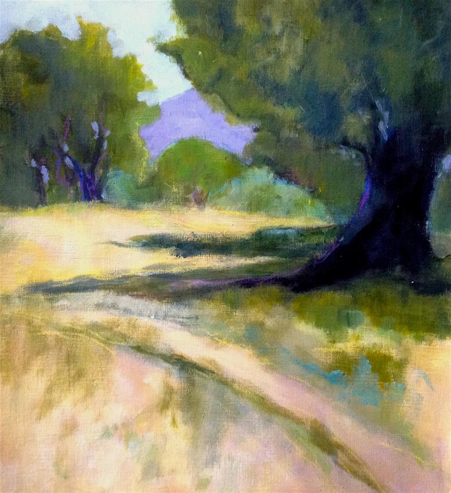 """Les Bassacs Landscape 1"" original fine art by Patricia MacDonald"