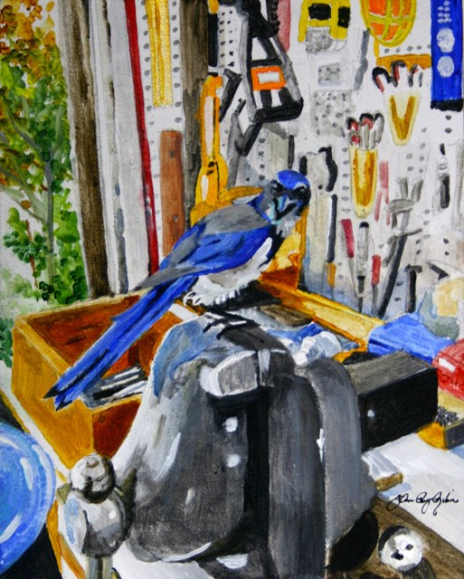 """Blue And His One Vice"" original fine art by JoAnne Perez Robinson"
