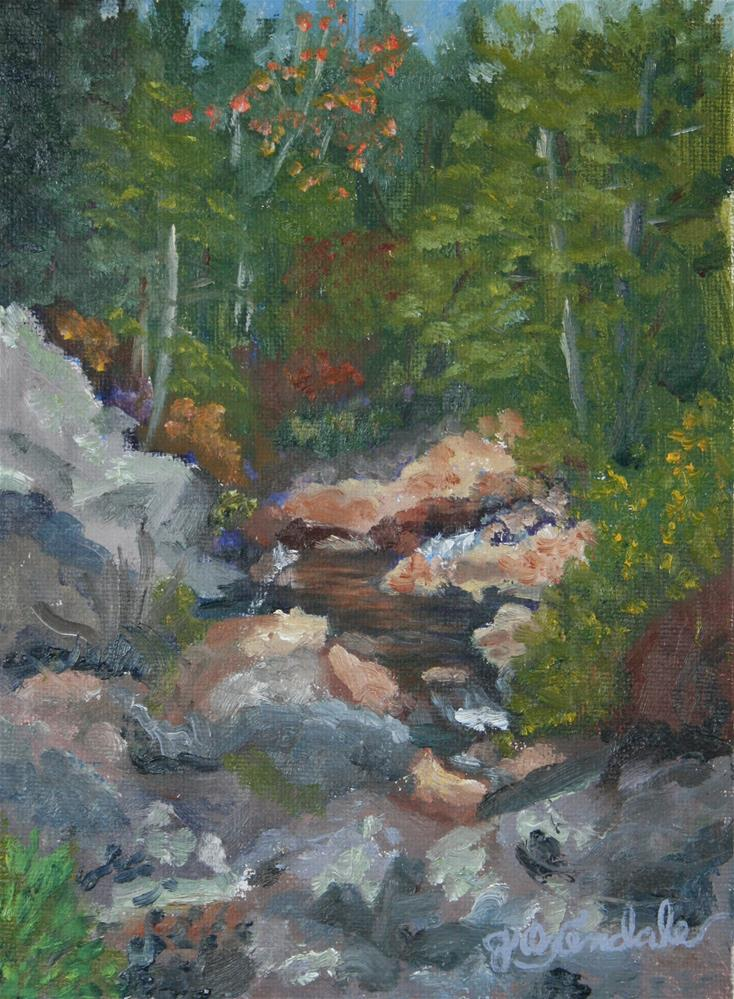 """Tonto Creek"" original fine art by Jan Oxendale"