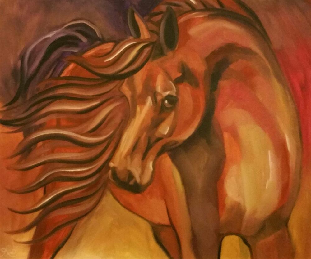 """""""Desert Wind"""" original fine art by Leni Tarleton"""