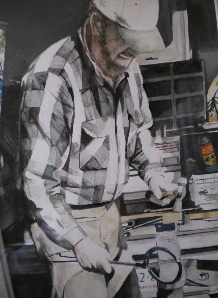 """Eben's Hands"" original fine art by Hilarie Johnson"