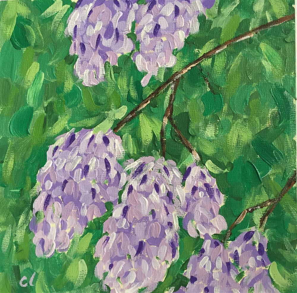 """Lilacs for Ma"" original fine art by Cheree Apalona Lueck"