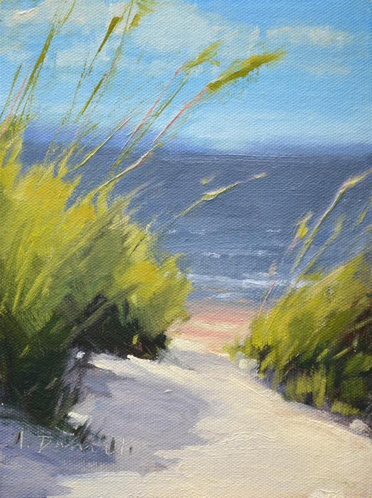 """Beach Breezes - Georgia Coast"" original fine art by Laurel Daniel"