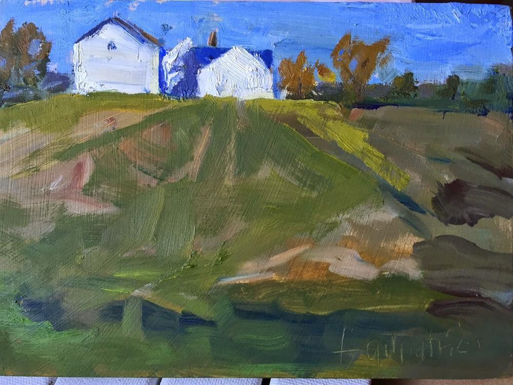 """End of Corn Season"" original fine art by Libby Gilpatric"