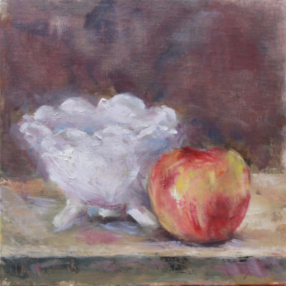 """Footed Bowl"" original fine art by Karen Solorzano"