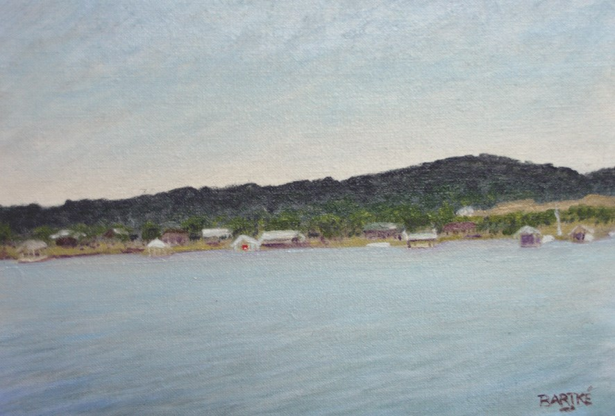 """Across The Lake"" original fine art by Janice Bartke Thompson"