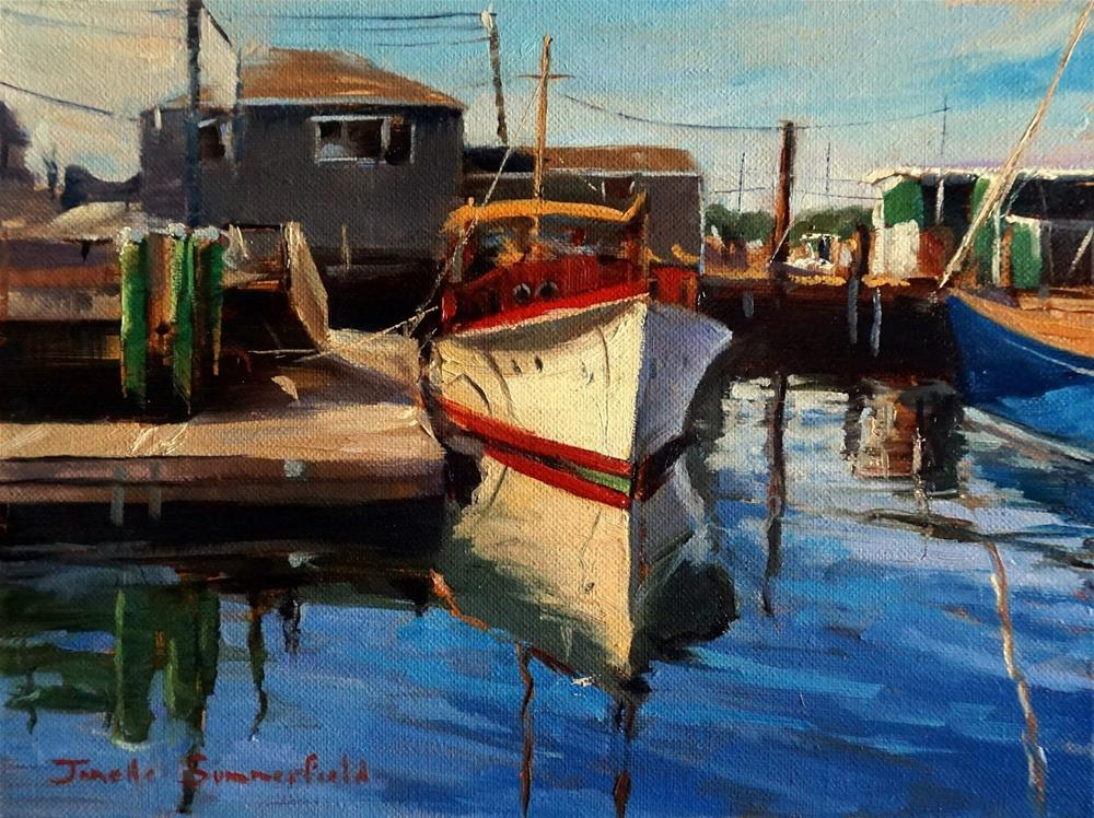"""Docked in Newport"" original fine art by Jonelle Summerfield"