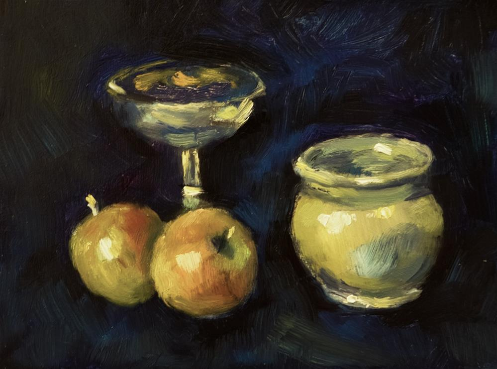 """Fruit, Pot and Chalice"" original fine art by Andre Pallat"
