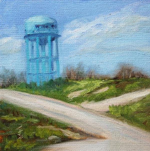 """Texas Tower"" original fine art by Jane Frederick"