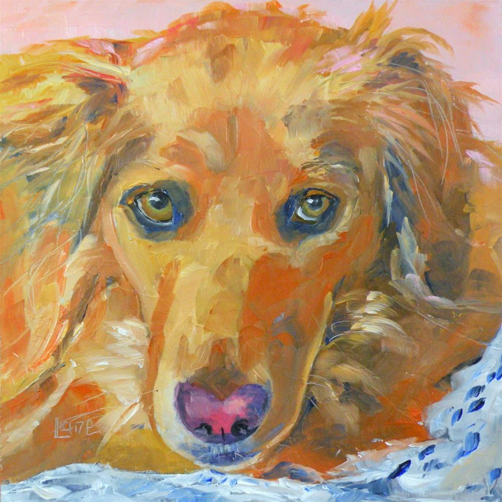 """ROSE 82/101 OF 101 PET PORTRAITS IN 101 DAYS © SAUNDRA LANE GALLOWAY"" original fine art by Saundra Lane Galloway"