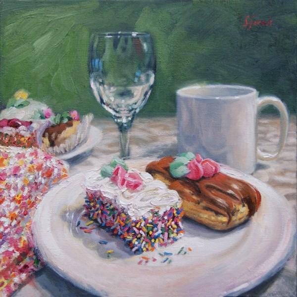 """Waiting For Dessert"" original fine art by Susan N Jarvis"
