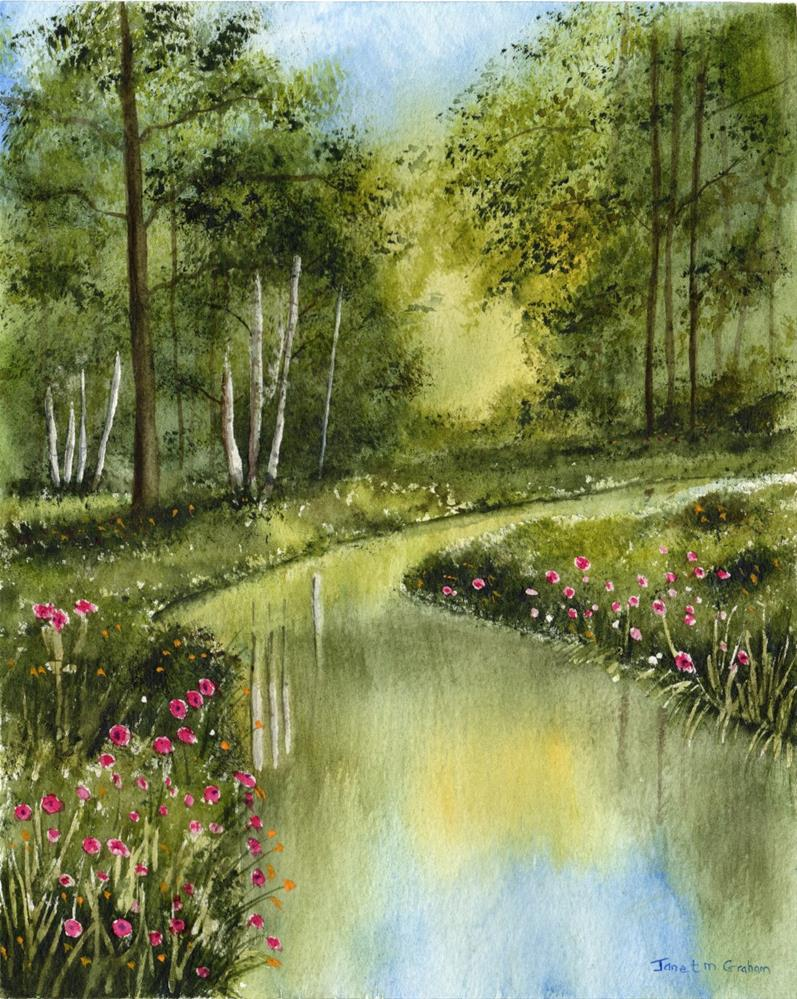 """Spring River"" original fine art by Janet Graham"
