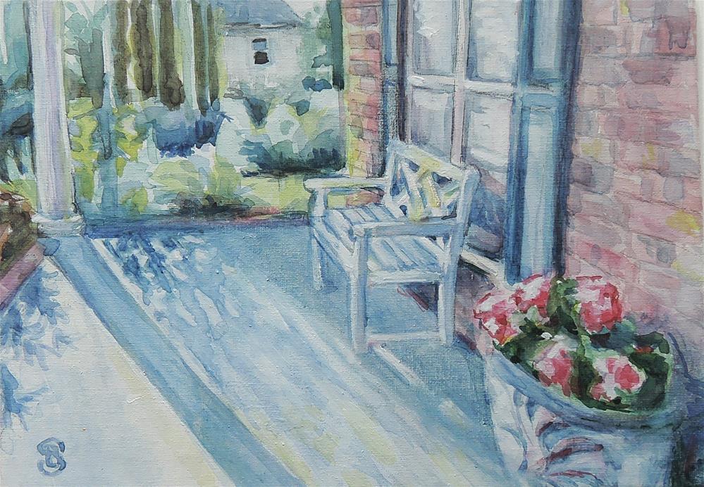"""""""Afternoon Sun and Shadows"""" original fine art by Belinda Scheber"""