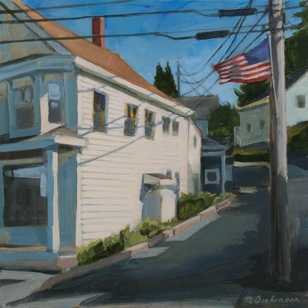 """Stonington Library"" original fine art by Nat Dickinson"