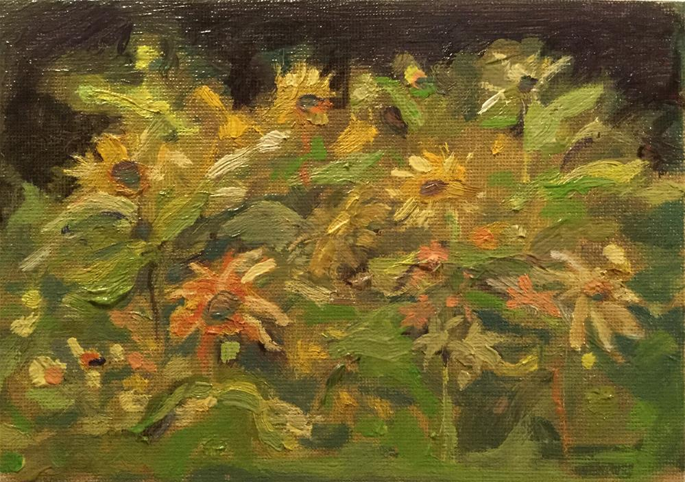 """Sunny Flowers"" original fine art by Barb Walker"