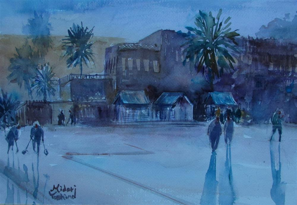"""Al Fanar Emirates restaurant in Al Ain."" original fine art by Midori Yoshino"