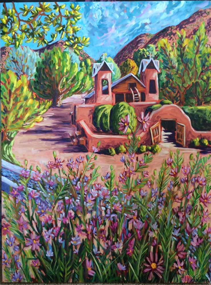 """Santuario through the Cosmos"" original fine art by Robyn Wellman"