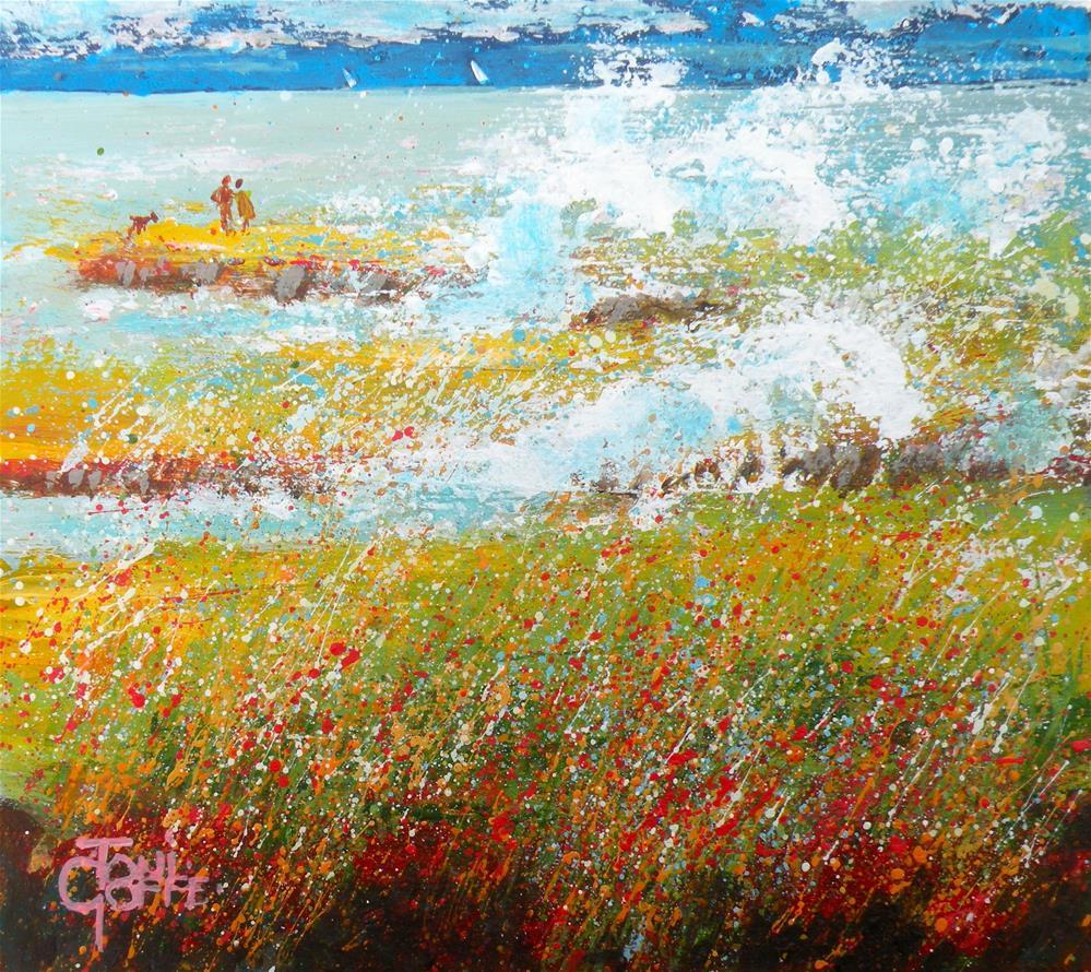 """A Walk on the Rocks"" original fine art by Toni Goffe"