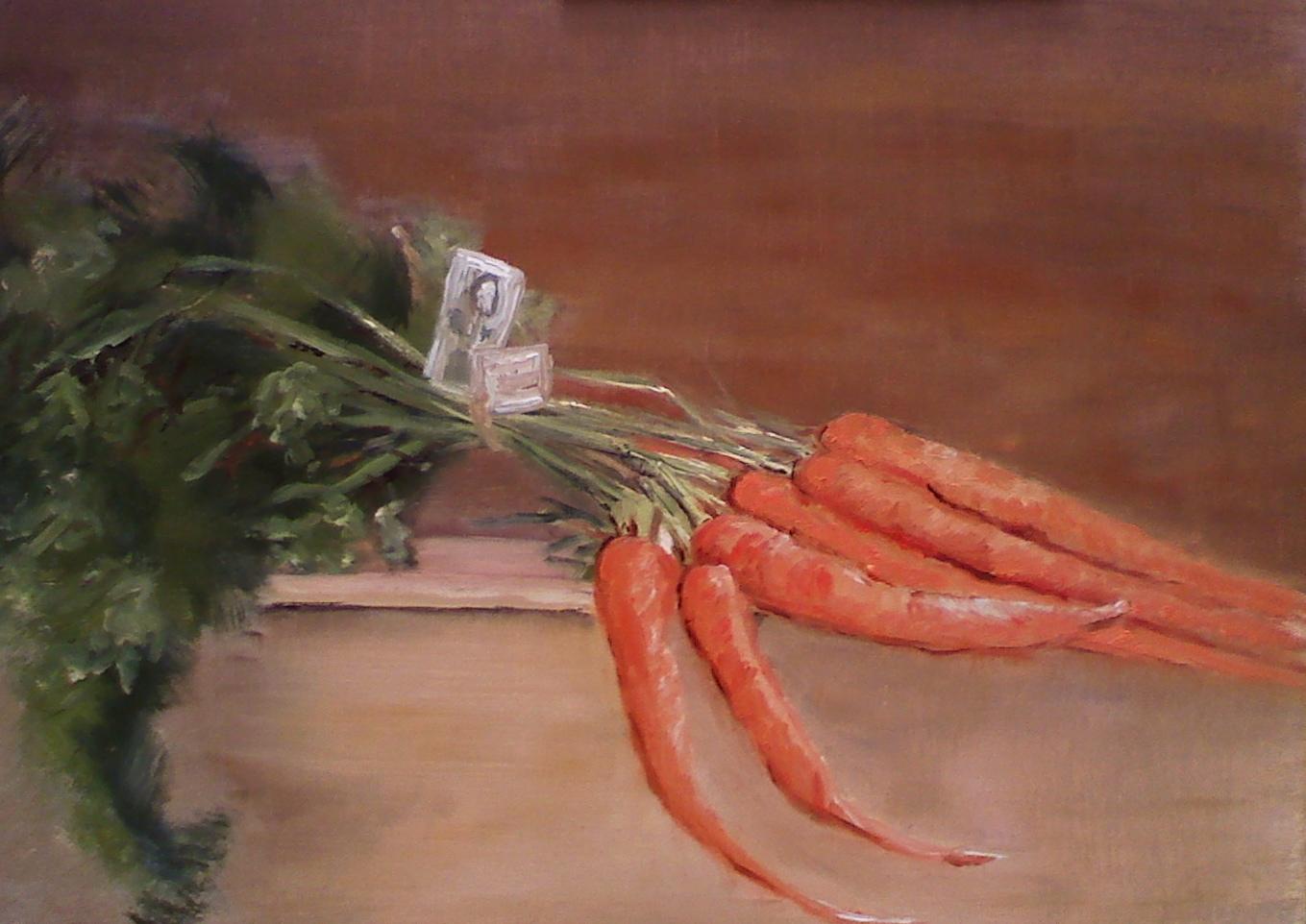 """Carrots"" original fine art by Judith Anderson"