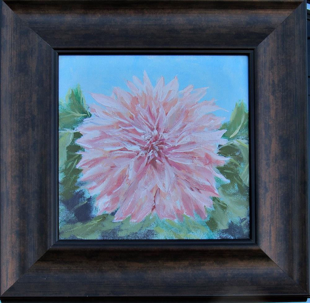 """""""Pink dahlia"""" original fine art by Dave Gehman"""